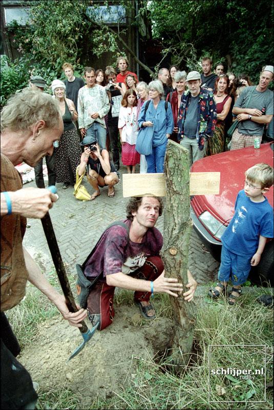 Nederland, Ruigoord, 2 augustus 2001.