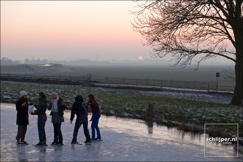 Nederland, Broek in Waterland, 30 december 2008