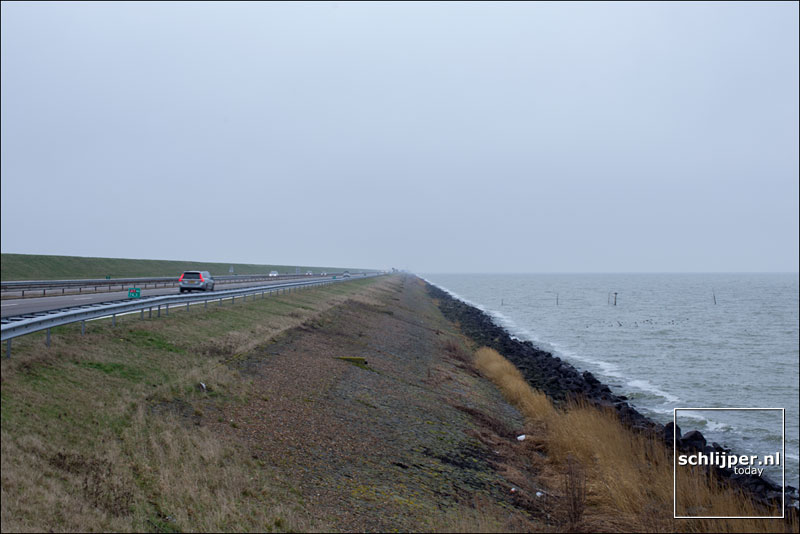 Nederland, Afsluitdijk, 20 januari 2014