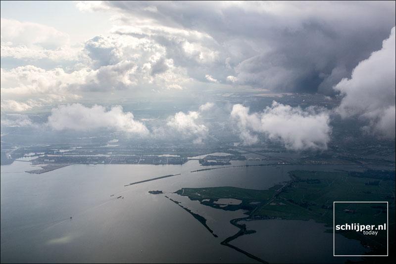 Nederland, IJburg, IJmeer, Kinselmeer, Durgerdam, 22 augustus 2014