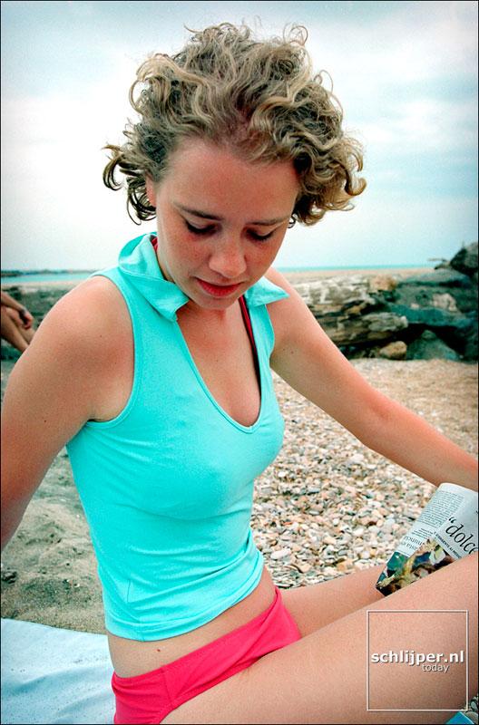 Italie, Lido di Ostia, 13 juni 2001.