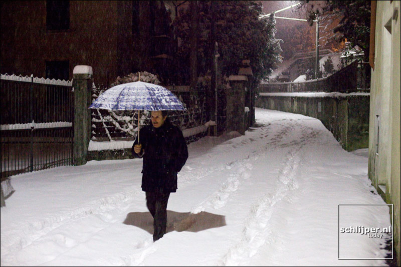 Italië, Caldè, 21 december 2009