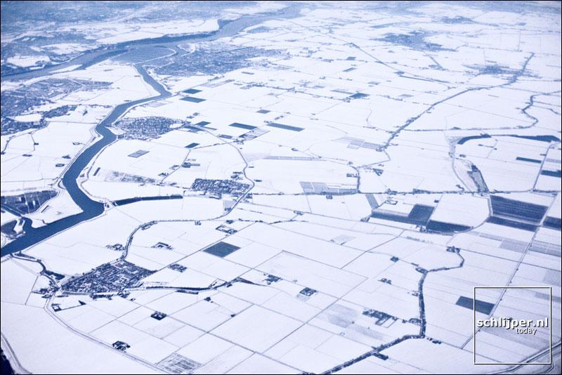 Nederland, Goudswaard, 24 december 2009