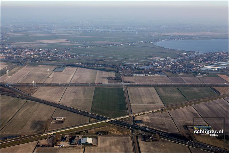 Nederland, Leimuiden, Oude Wetering, 14 maart 2016