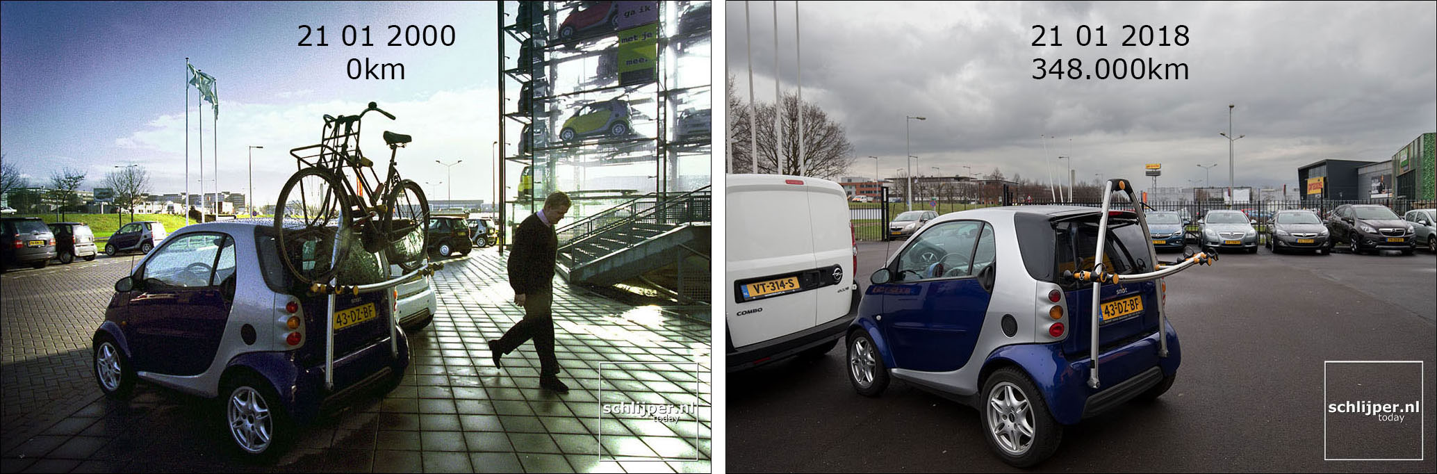 Nederland, Amsterdam, 21 januari 2000 + 21 januari 2018