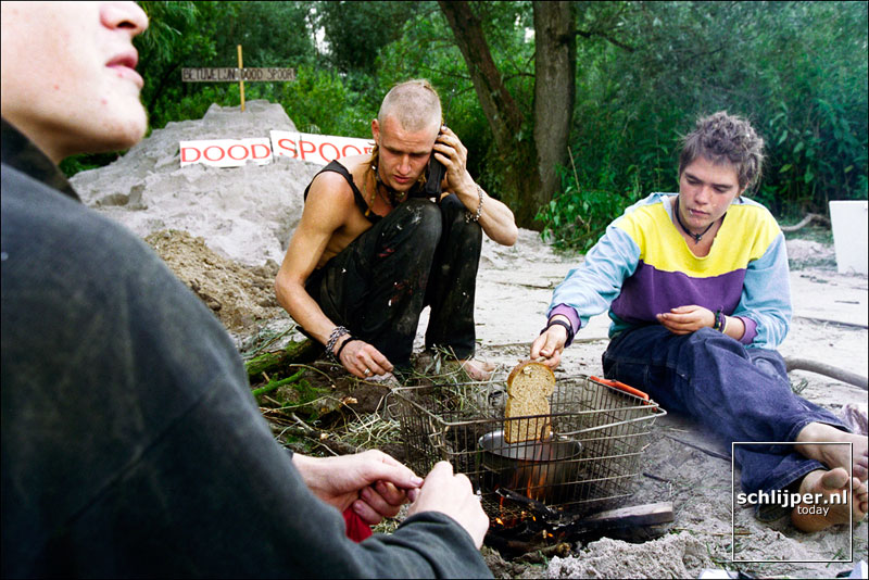 Nederland, Pannerdenskanaal, 7 juli 1999